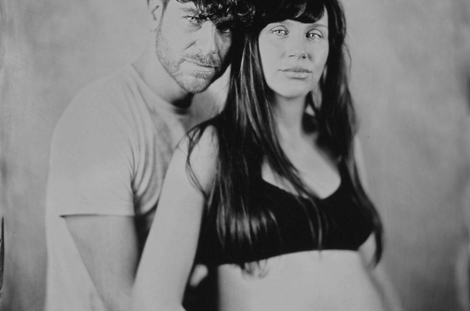 Séance grossesse au collodion humide